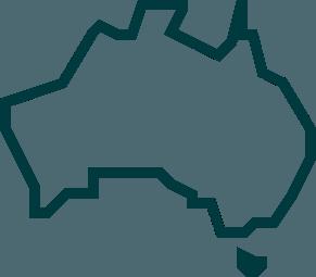 Australia Outline in Green